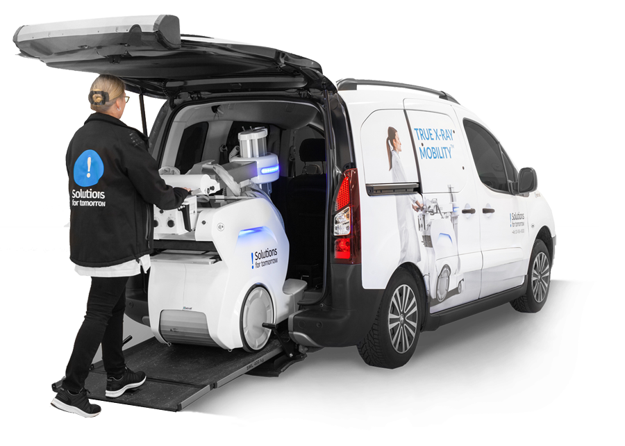 Mobile x ray unit